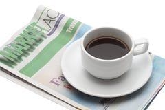 Frühstück des Geschäftsmannes lizenzfreies stockbild