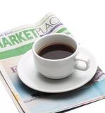 Frühstück des Geschäftsmannes lizenzfreie stockfotografie