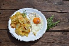 Frühstück des Landwirts Stockbild