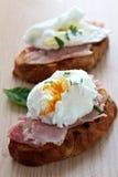 Frühstück des poschierten Eies Stockfotografie