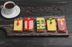 Frühstück für Männer Lizenzfreies Stockfoto