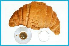 Frühstück für Meister mit Milch Stockbild