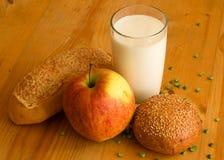 Frühstück im Bauernhof stockfotografie