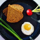 Frühstück im Dorf Lizenzfreie Stockfotografie