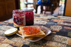 Frühstück im Feiertag Stockfoto