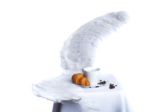Frühstück im Paradies Stockbild