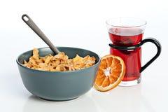 Frühstück mit Corn-Flakes Lizenzfreies Stockbild