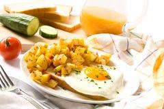 Frühstück mit Ei stockfoto