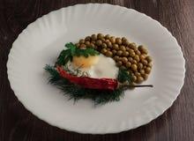 Frühstück mit Ei Lizenzfreie Stockbilder