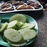 Frühstück mit Gemüse Stockfotografie