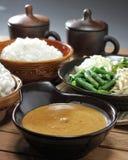 Frühstück mit Gemüse und Paprika stockfotografie