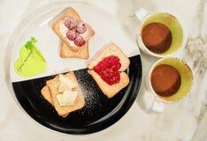 Frühstück mit Liebe Stockfoto