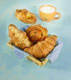 Frühstück mit Milch Stockbilder