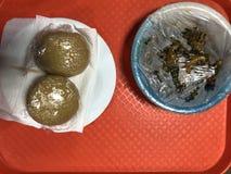 Frühstück in Nigeria stockbild