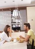 Frühstück in privatem Stockbild