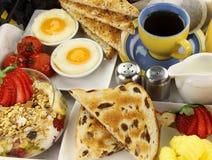 Frühstück-Tellersegment Lizenzfreie Stockfotos