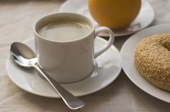 Frühstück und Kaffee lizenzfreie stockfotos