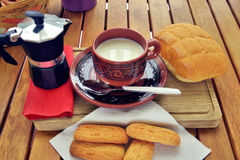 Frühstück zu Hause Stockfotos