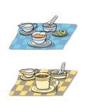 Frühstückaufbau Stockfoto