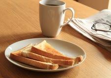 Frühstückprogramm Stockbild