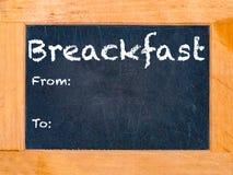 Frühstücks-Kreide-Brett Lizenzfreie Stockfotos