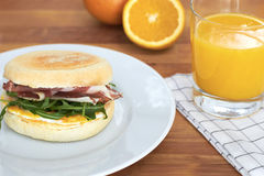 Frühstücks-Muffin Stockfoto