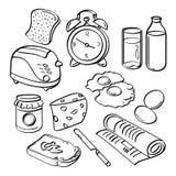 Frühstücks-Sammlung Stockfotografie