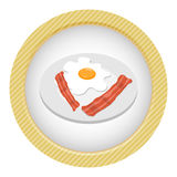 Frühstücksei mit Speck Stockbild