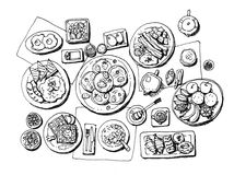Frühstücksillustration Stockfotos