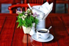 Frühstückskaffee Stockfoto