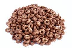 Frühstückskost aus Getreide auf Weiß Lizenzfreie Stockfotos