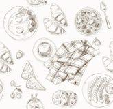 Frühstücksmuster Stockfoto
