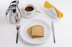 Frühstückstisch Stockbild
