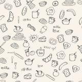 Frühstücksvektormuster lizenzfreie abbildung