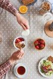 Frühstückszeit Stockfotos