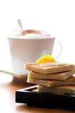 Frühstücktoast mit marmelade und Kaffee Lizenzfreie Stockfotos