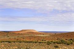 FR西部简单的平的冠小山 库存照片