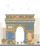 fr 01 arch triumf Paryża Ilustracji