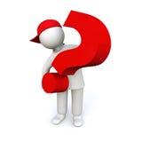 fråga frågor royaltyfri illustrationer