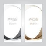 För bakgrundsabstrakt begrepp för vektor fastställd design för vektor för whit för våg för brunt för grå färger för titelrad på g Arkivbilder