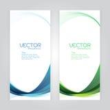 För bakgrundsabstrakt begrepp för vektor vektor de för whit för grön våg för fastställd titelrad blå Fotografering för Bildbyråer