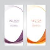 För bakgrundsabstrakt begrepp för vektor vektor för whit för våg för fastställd titelrad violett orange Arkivfoto
