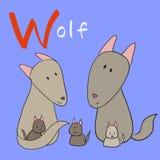 för bakgrundsbilder för alfabet djur white för vektor Royaltyfri Fotografi