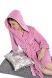 för begreppshälsa för badrock härligt barn för kvinna Royaltyfria Foton