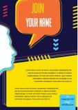 För begreppsvektor för affär infographic orientering för presentation, häfte, website och annat designprojekt samla ihop kommunik Royaltyfri Foto