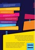 För begreppsvektor för affär infographic orientering för presentation, häfte, website och annat designprojekt samla ihop kommunik Royaltyfria Bilder
