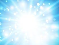 för bokehlampa för abstrakt bakgrund blå vektor Fotografering för Bildbyråer