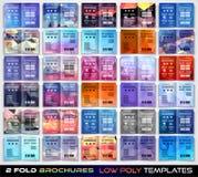 För broschyrmall för vektor trifold design eller reklambladorientering Arkivfoto