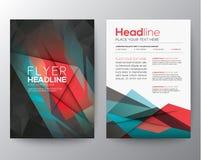 För broschyrreklamblad för abstrakt triangel geometrisk mall för orientering för design Arkivbilder