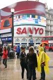 för cirkus turister 2010 piccadilly Royaltyfri Fotografi